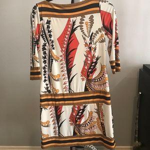 Egyptian patterned drop waist dress